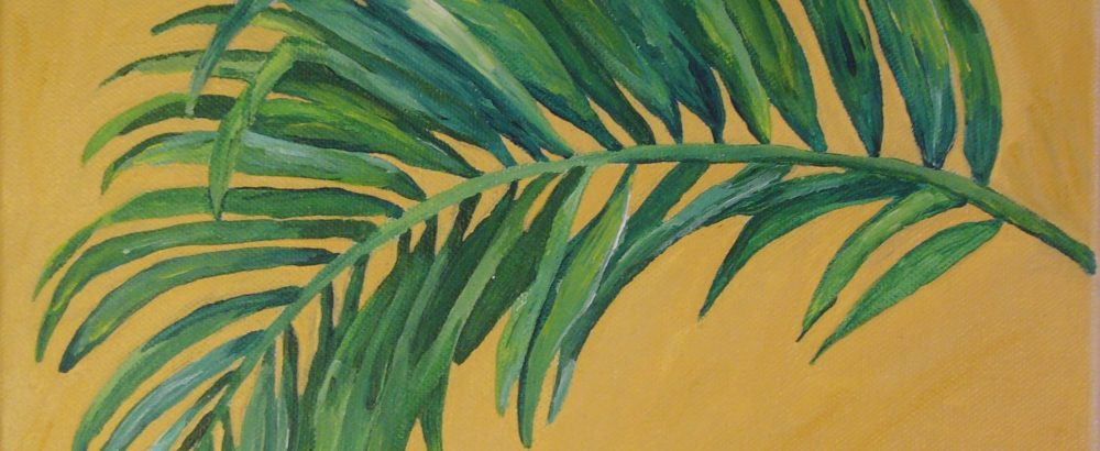 Palmwedel zugeschnitten
